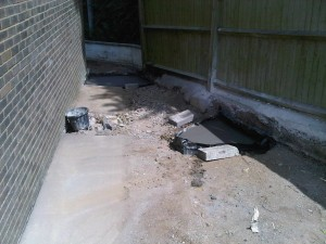 Frome concreted pads